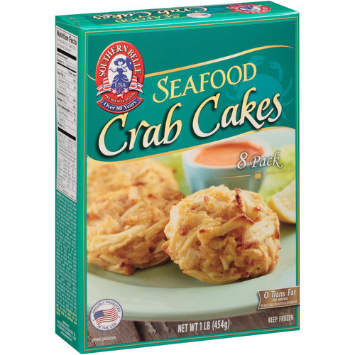 Southern Belle Seafood Crab Cakes, 8 count, 1 lb