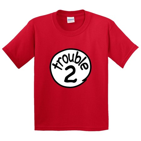 New Way 722 - Youth T-Shirt Trouble 2 Two Dr Seuss Thing Parody - Dr Seuss Clothing For Kids