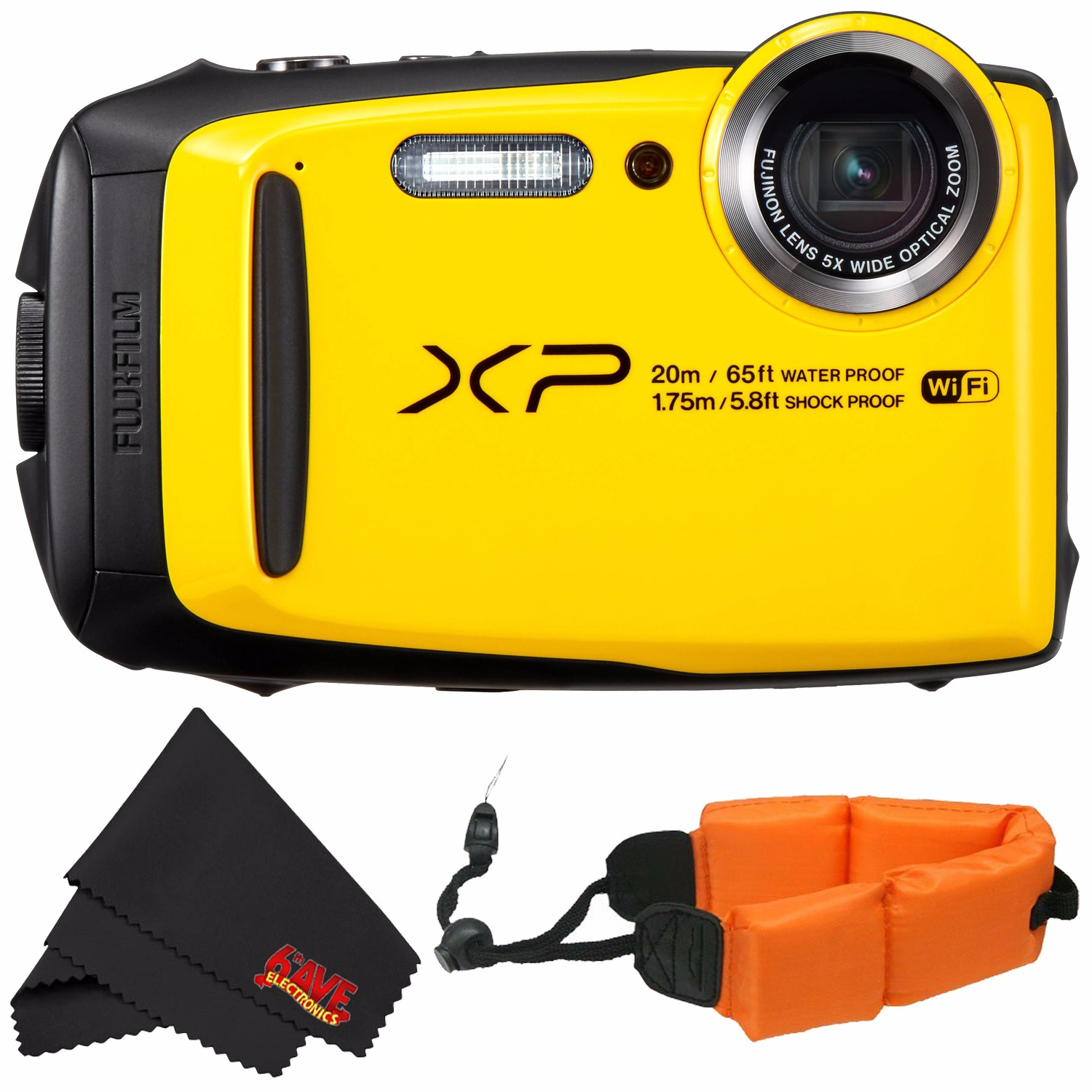 Fujifilm FinePix XP120 Waterproof Digital Camera International Model (Yellow) 16544125