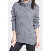 Chelsea28 NEW Gray Women's Size XS Turtleneck Mock Solid Textured Sweater