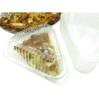 Disposable Plastic Hinged Pie Slice Container - #9019