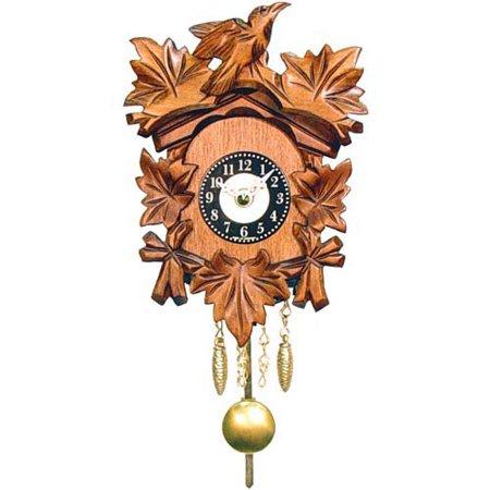 Age-Old Bird and Leaf Motif Cuckoo Clock