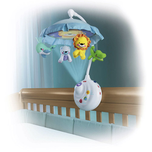 Fisher-Price Baby Crib Mobile Musical Nursery Music Box Arm Bed Toy ...