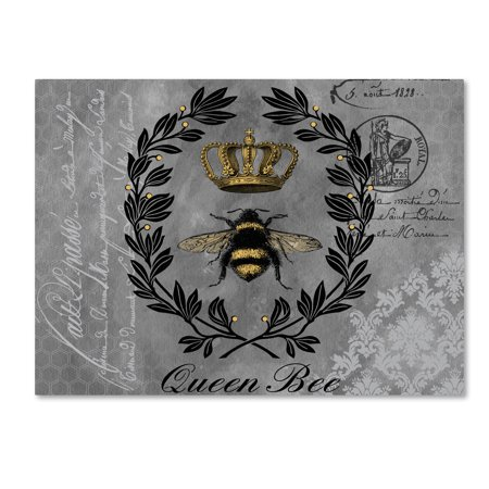 Trademark Fine Art 'Queen Bee 2' Canvas Art by Jean (Arc Queen Bed)