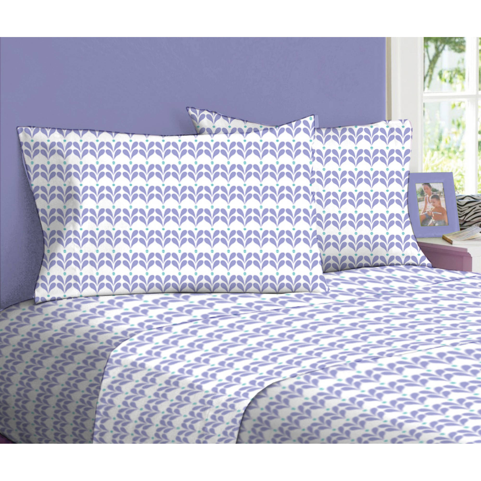 your zone midnight paisley 3-piece sheet set, twin