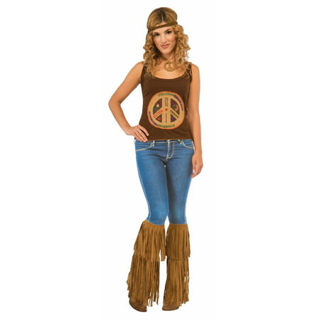 Hippie Fringed Boot Tops Halloween Costume Accessory (Kids Hippie Costume Ideas)