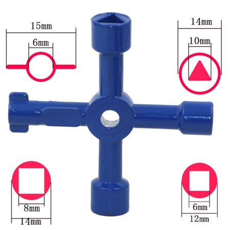 Multifunctional Four Uses Key Wrench - image 3 de 8