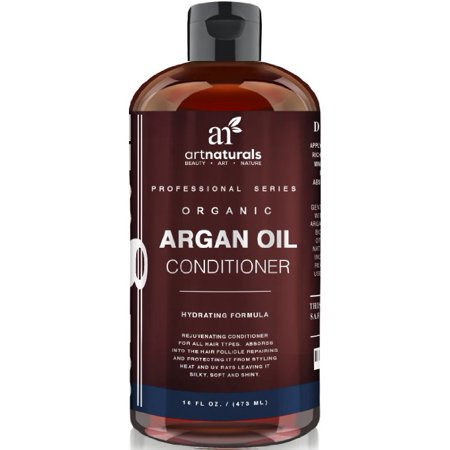 Art Naturals Argan Oil Daily Hair Conditioner 16 Oz - Sulfate Free - Best Treatment for Damaged & Dry Hair - Made with Organic Ingredients & Keratin - For All Hair Types - Safe for Color Treated