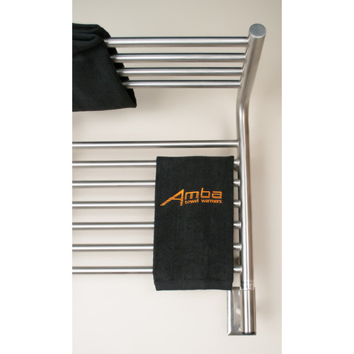Amba Jeeves Wall Mount Electric M Shelf Straight Towel Warmer