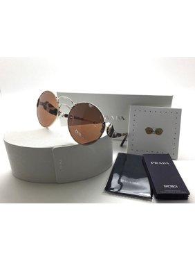 9bba327f70309 Product Image PRADA WANDERER Round PR55TS Grey Havana Pale Gold Round  Sunglasses 55T ZVN-6N0 SPR