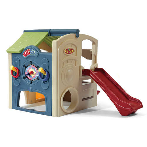 Step2 Neighborhood Fun Center Playhouse with Slide and Six Accessories by Step2