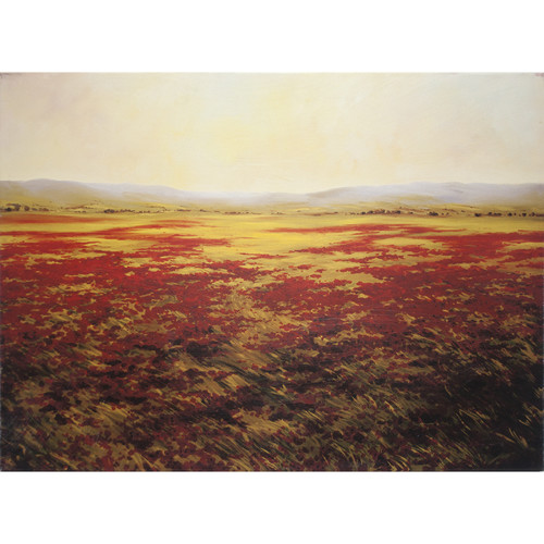 Decor Therapy Floral Landscape Poppies Forever Painting Print on Canvas