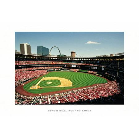 Busch Stadium, St Louis Art Print By Ira Rosen - 19x13 - Old Busch Stadium