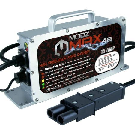 MODZ Max48 15 AMP Yamaha G19 - G22 Battery Charger for 48 Volt Golf Carts 48 Volt Power Drive