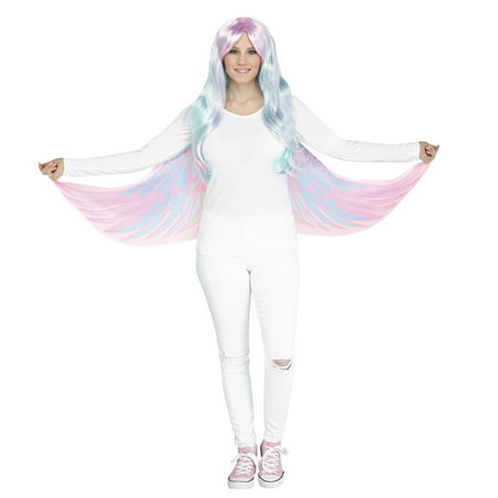 Unicorn Pegasus Soft Cloth Fabric Wings Finger Loops Halloween Costume Accessory (Simple Halloween Finger Foods)