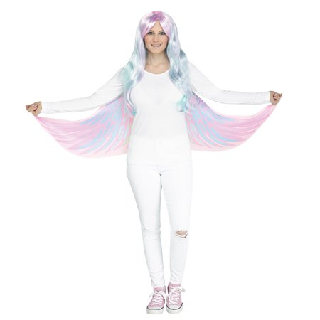 Unicorn Pegasus Soft Cloth Fabric Wings Finger Loops Halloween Costume Accessory - Unicorn Rider Costume