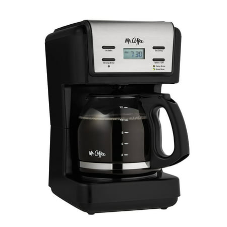 Mr. Coffee 12 Cup Programmable Black Coffee Maker Dual Espresso Programmable Coffee Maker