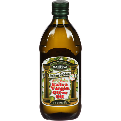 Mantova Italian Golden Extra Virgin Olive Oil, 17 fl oz, (Pack of 6)
