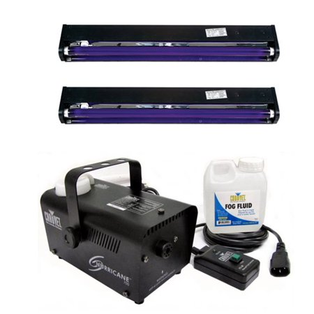 CHAUVET Hurricane H700 Fog Machine H-700 Fogger + (2) AMERICAN DJ UV Blacklights - Bubble Fogger