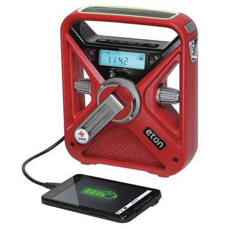 AMERICAN RED CROSS ARCFRX3WXR Portable Multipurpose Weather Radio,Red