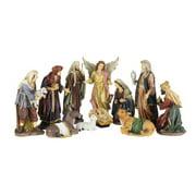 Colorful 11 Piece Christmas Nativity Figurine Set 6004804 New 12 inch