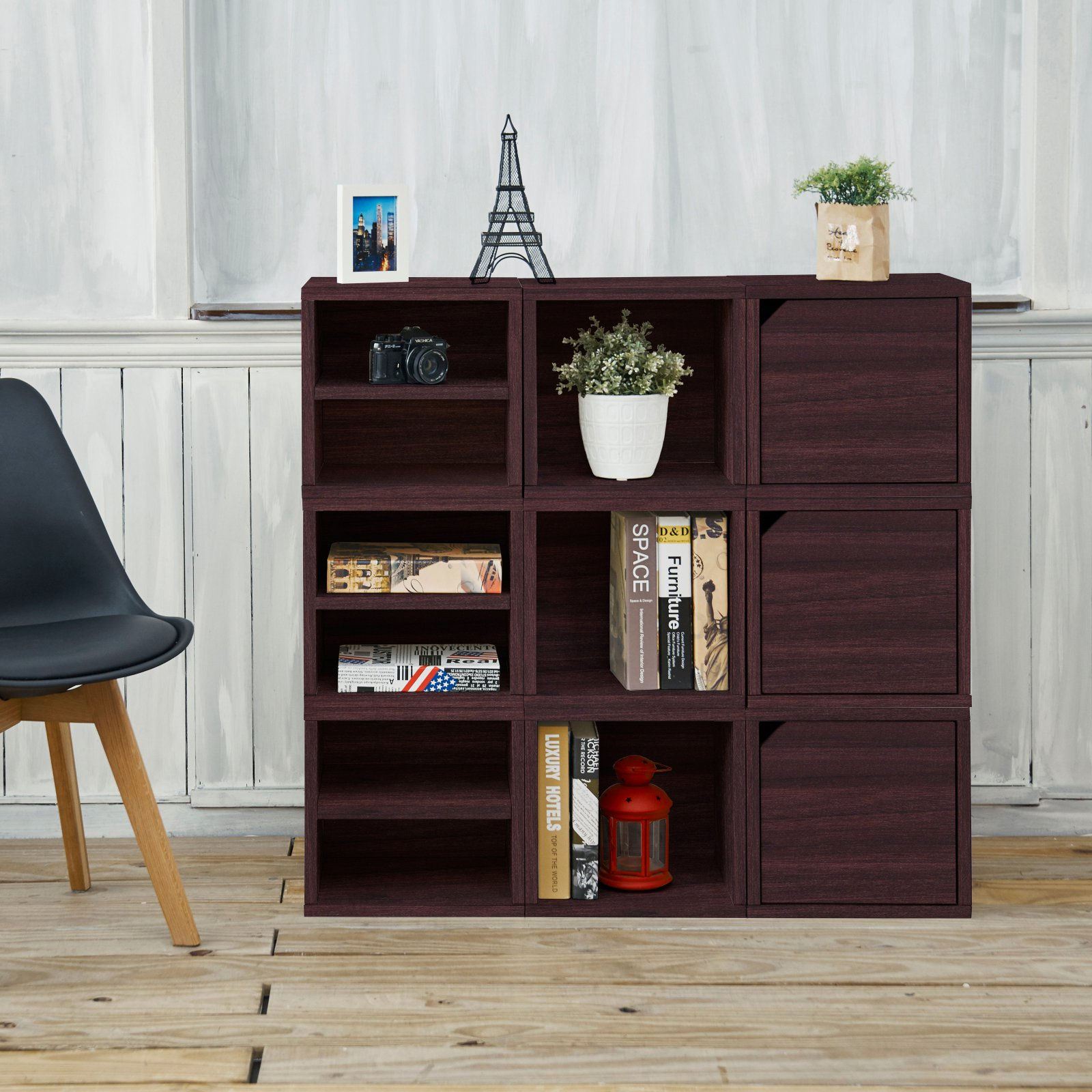 Way Basics Eco Stackable Connect 9-Cube Storage, Multiple Colors