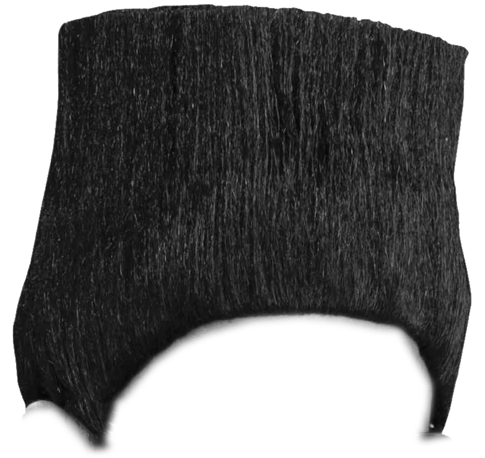 Retro Black 80s High Top Will Smith Kid N Play Fade Wig