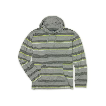 Ecko Unltd. Mens Striped Hooded Graphic T-Shirt greyheath XS - image 1 de 1