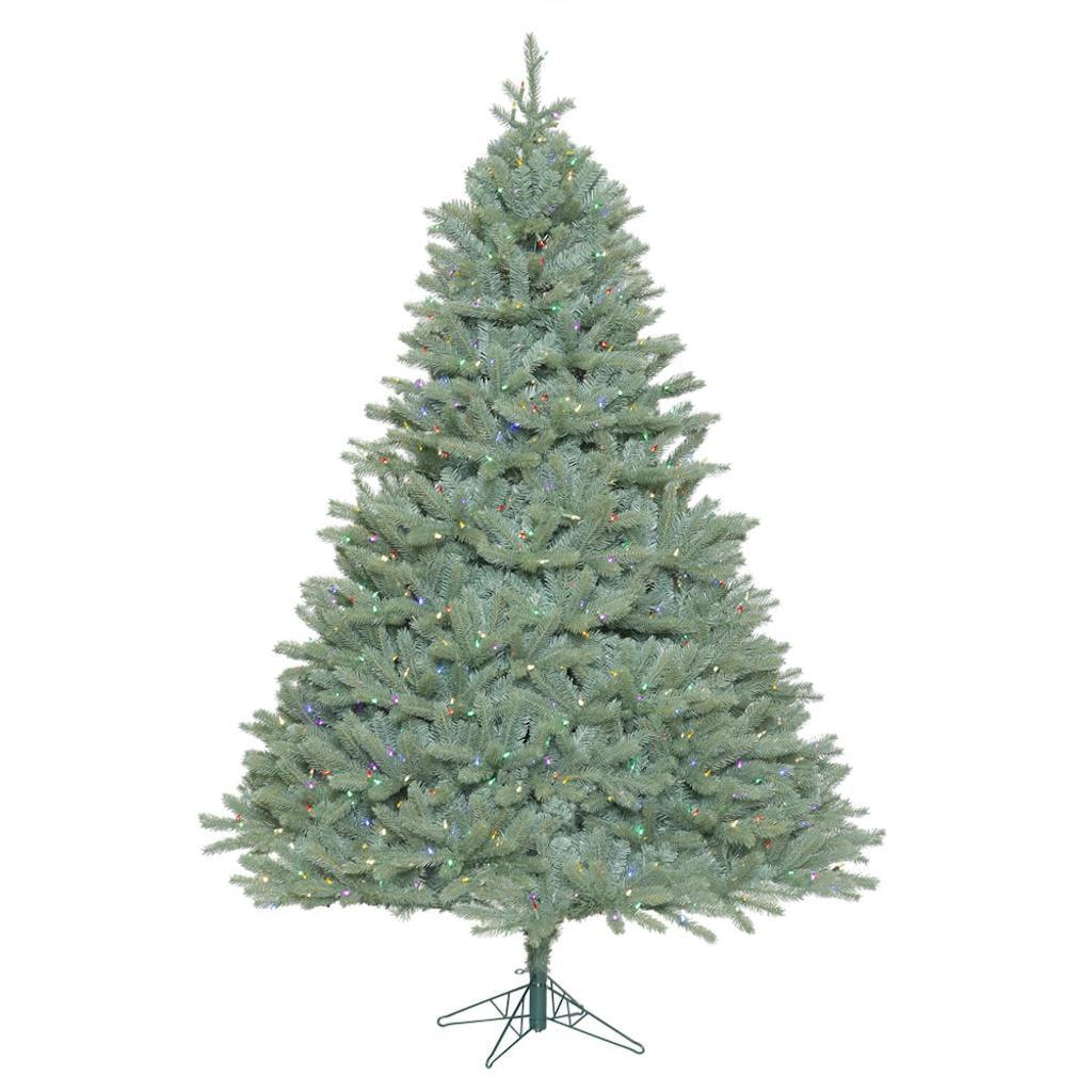 "Vickerman 408407 - 6.5' x 58"" Colorado Blue Spruce Tree with 850 Multi Color LED Lights Christmas Tree (A164767LED)"