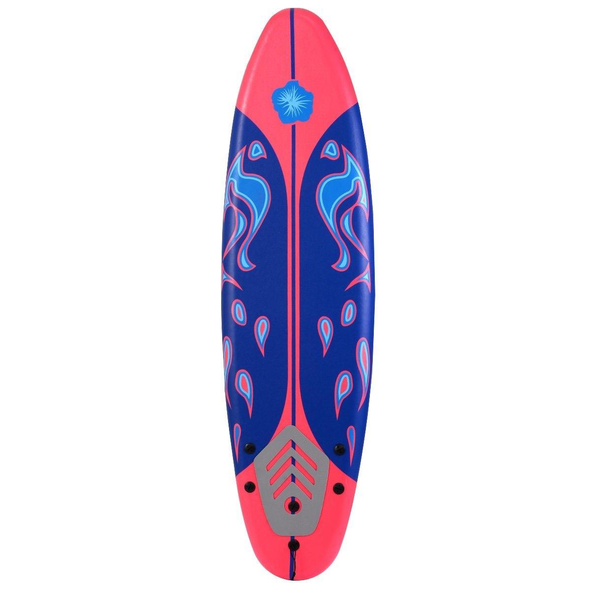 New MTN-G 6' Surfboard Surf Foamie Boards Surfing Beach Ocean Body Boarding Red by Giantex