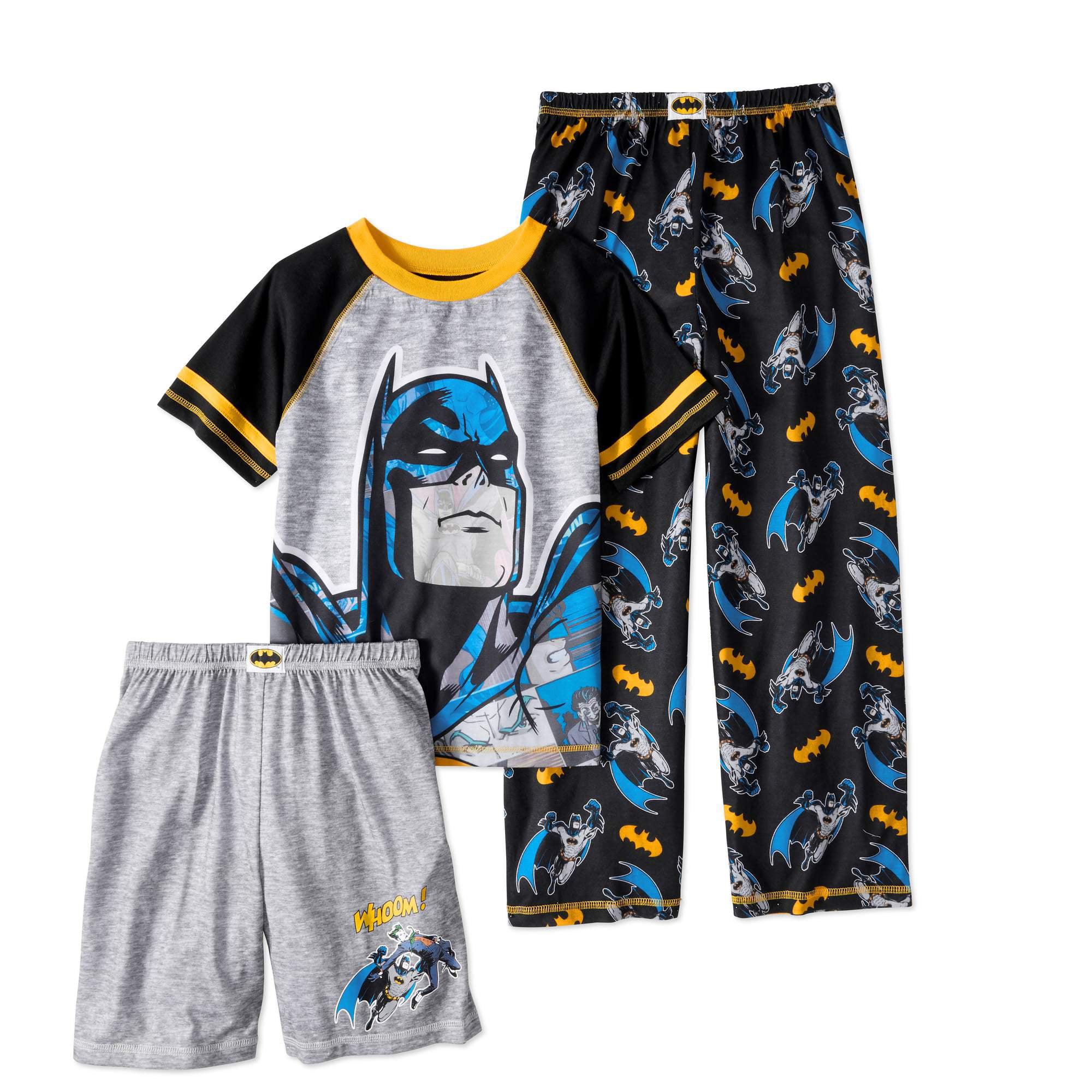 Batman Boys' 3 Piece Pajama Set by Generic