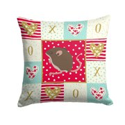 Baby Mouse Love Fabric Decorative Pillow