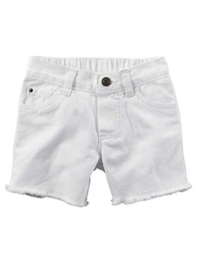 36238d454 Product Image Carter's Little Girls' Frayed Twill Shorts - White, ...