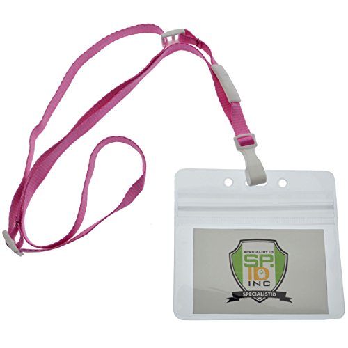 Badge /& Key Chain Holder by Specialist ID 2 Pack Soft /& Silky Comfort Style with Detachable Breakaway Safety Clasp Pink Breast Cancer Awareness Lanyards with Pink Ribbons