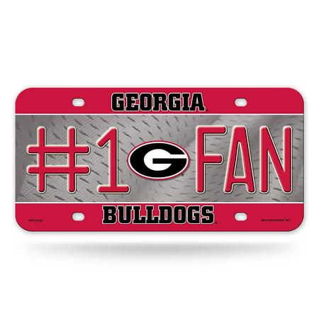 NCAA Georgia Bulldogs #1 Fan Metal Auto Tag
