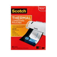"Scotch Thermal Laminating Pouches, 50 Count, 8.5"" x 11"", 3 Mil Thick"