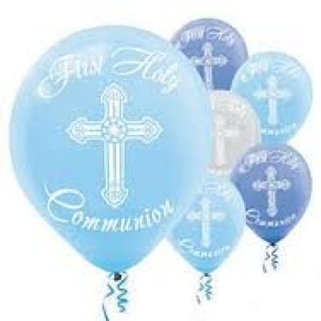 Amscan First Holy Communion Printed Latex Balloons, 15 Ct. Party Decorations