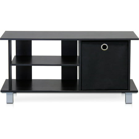 Furinno Simplistic Tv Entertainment Center With Bin Drawers  Espresso Black