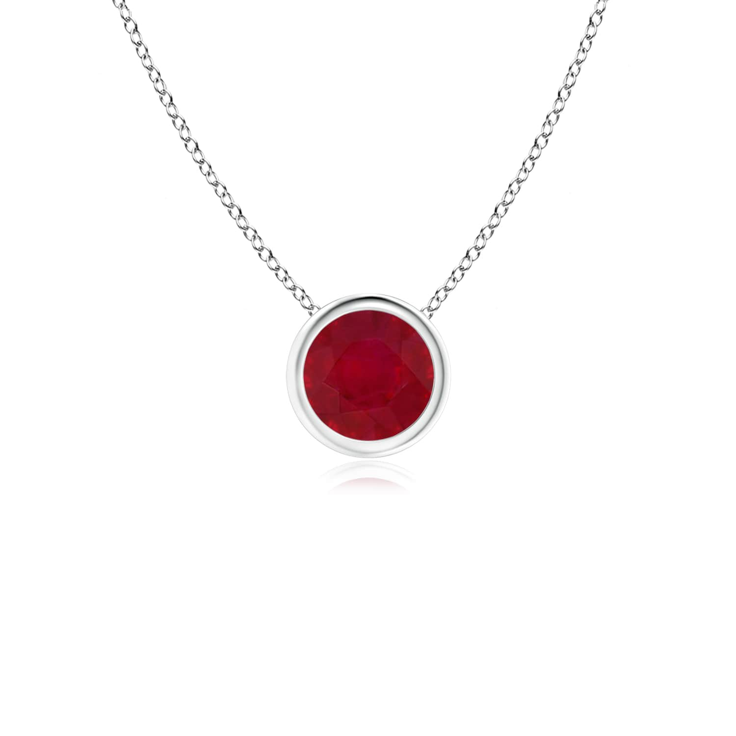 Angara Ruby Solitaire Pendant in Platinum - July Birthstone Necklace y3TG0s0xU