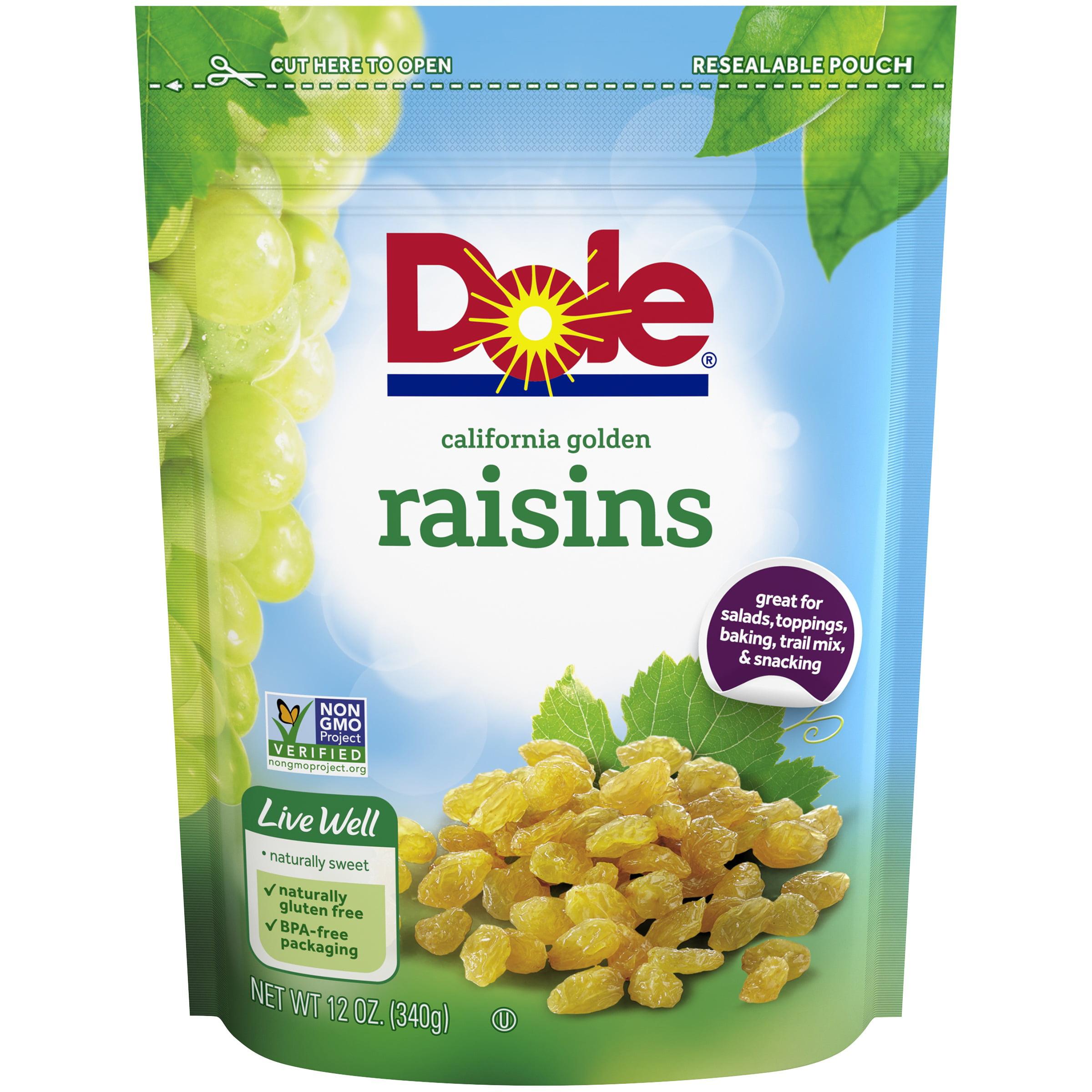 Dole® Golden California Raisins 12 oz. Pouch