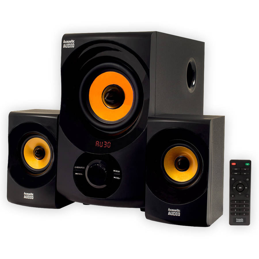 Acoustic Audio AA2170 Home 2.1 Bluetooth Speaker System FM Tuner USB Computer Multimedia