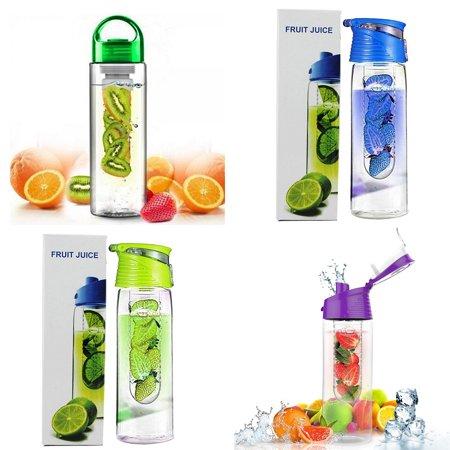 With Lid Infuser - 800 Milliliter Fruit Infusing Water Bottle with Fruit Infuser and Flip Lid Lemon Juice Make Bottle