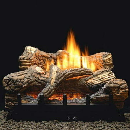 - Empire 24 Inch Flint Hill Gas Log Set With Vent Free Propane Contour Burner - Manual Safety Pilot