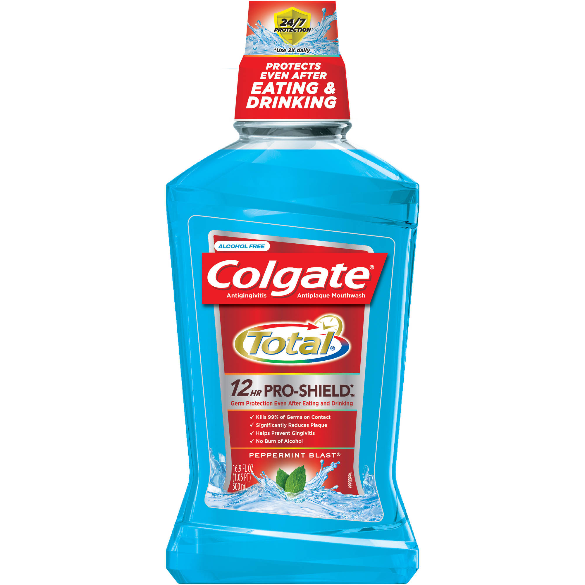 Colgate Total Advanced Pro-Shield Peppermint Blast Mouthwash, 16.9 fl oz