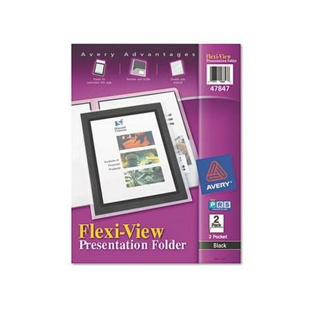 Flexi View 2 Pocket Folders - Avery Flexi-View Presentation Two Pocket Folder AVE47847