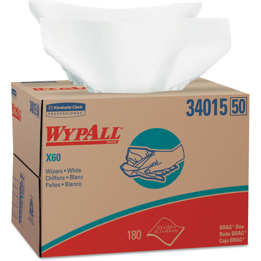 Kimberly-Clark Professional Wypall X60 Wipers, 180 ct