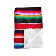 INS Mexican Rainbow American Style Baby Nap Blanket Knit Blanket