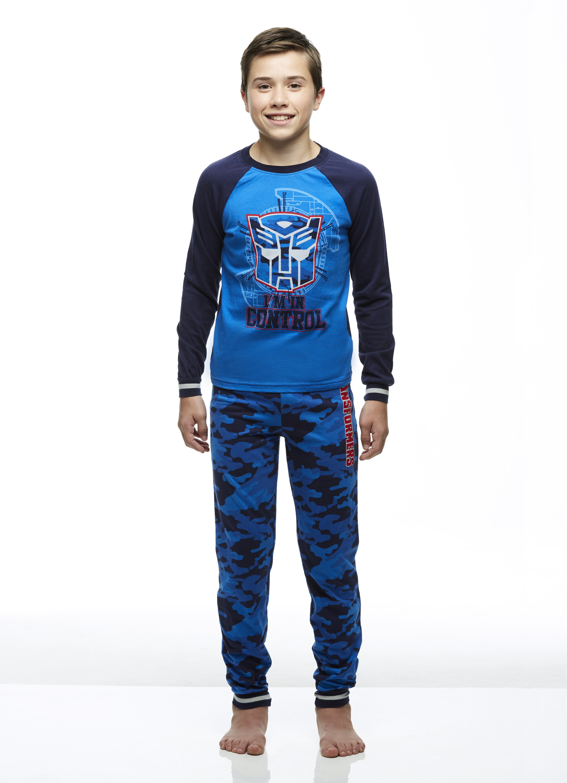 Top /& Pants Transformers Robots In Disguise Boy 2-Piece PJ Set