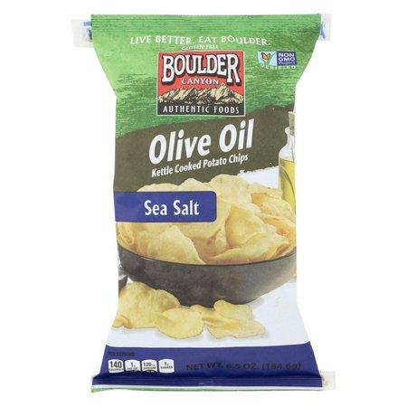 Boulder Canyon Natural Foods Kettle Chips - Olive Oil - pack of 12 - 6.5 Oz.