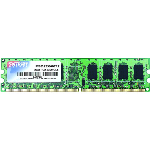Patriot Memory Signature 2GB DDR2 667MHz PC2-5300 DIMM Memory Module, PSD22G6672